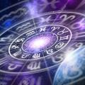 90191005 astrological zodiac signs inside of horoscope circle on universe background astrology and horoscopes