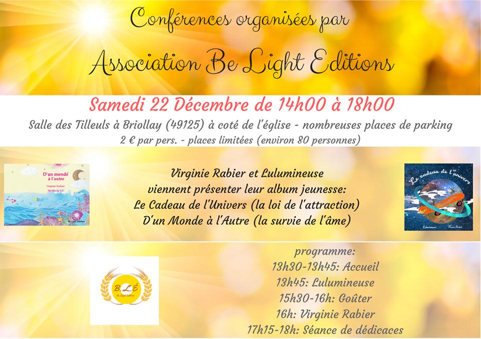 Conférence du 22 décembre - Inscriptions ouvertes