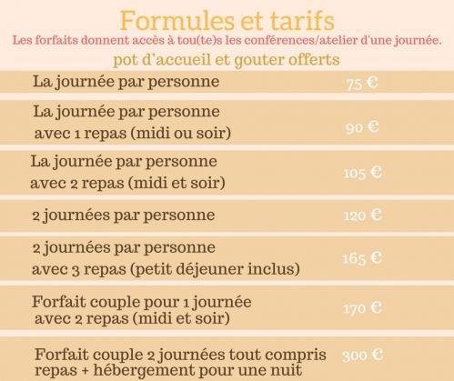 Formules et tarifs 1 2