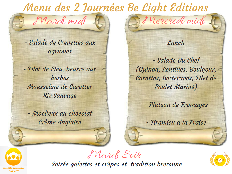 Menu journees be light editions mai 18png