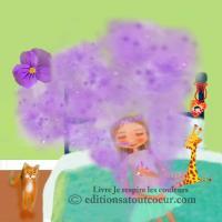 Sur le dos violet